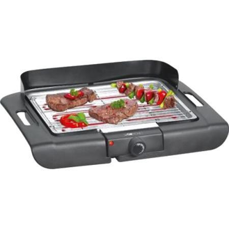 Clatronic BQ 3507, Black гриль/барбекюBQ 3507 schwarzБлагодаря электрогрилю Clatronic BQ 3507 вы сможете приготовить стейки из мяса, поджарить рыбу или овощи, а так же побаловать семью вкусными горячими сэндвичами на завтрак. Рифленая поверхность прибора обеспечивает хорошую прожарку продуктов. Тот жир, который образуется при жарке мяса и рыбы стекает по специальным стокам в металлический поддон. Эргономичные теплоизолированные ручки надежно предохраняет руки от ожогов. Данная модель обладает съемными нагревательными элементами и решеткой для облегчения их чистки. Особые меры предосторожности: Во время работы температура доступных поверхностей может быть очень высокой. Устройство можно брать только за ручки или термо-стат. Следите за тем, чтобы сетевой кабель не касался горячих частей электроприбора. Соблюдайте достаточное расстояние (30 см) до легко воспламеняющихся предметов, таких как мебель, шторы и т.п. До стены должно оставаться расстояние не менее 15 см. Не используйте в данном устройстве...