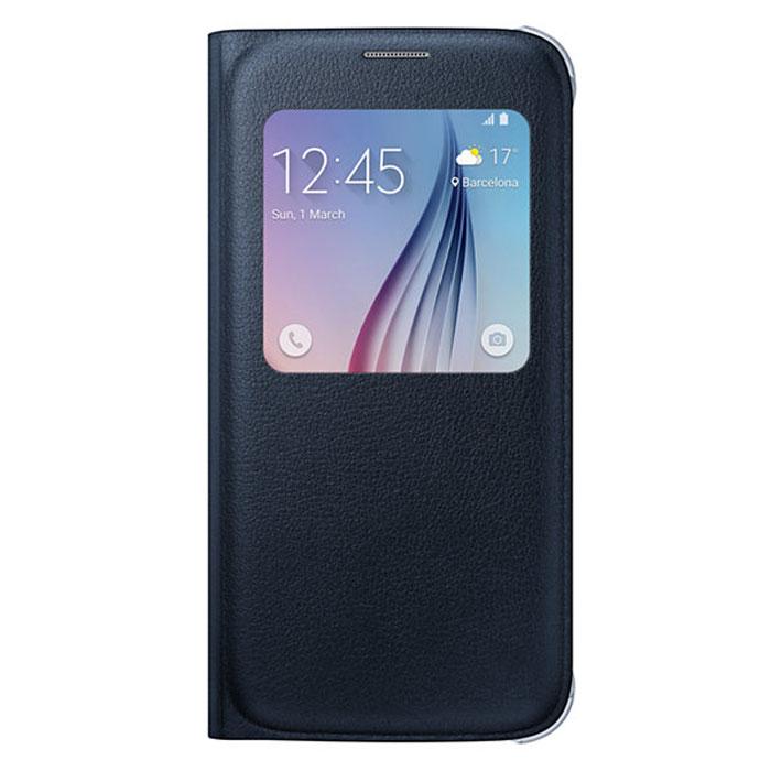 Samsung EF-CG920P S-View чехол для Galaxy S6, BlackEF-CG920PBEGRUSamsung EF-CG920P S-View для Galaxy S6 защитит ваше устройство от внешних повреждений, а также позволит вам получить доступ к различным смарт-функциями устройства, не открывая крышку.