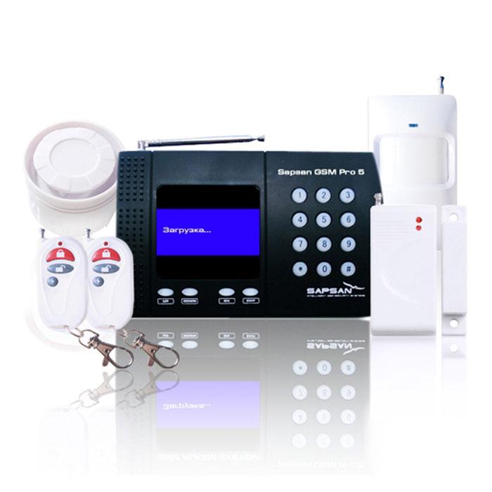 Sapsan GSM PRO 5T Универсал GSM-сигнализацияУниверсалSapsan GSM PRO 5T со встроенным температурным датчиком представляет собой новое решение защиты безопасности и специально создана для использования в отапливаемых помещениях (дома, офисы, коттеджи, дачи, магазины, гаражи, склады и т.д.). Система основана на использовании сотовой GSM связи для оповещения владельца сигнализации о проникновении на объект и для управления электрическим оборудованием посредством сотового телефона. При срабатывании любого из охранных или пожарных датчиков, сигнализация осуществляет телефонный звонок или отправку SMS сообщения на номера пользователей которые были занесены в систему. Система Sapsan GSM PRO 5T оборудована LCD дисплеем с операционным меню, таким образом, все действия и настройки визуализированы и интуитивно понятны. Система оборудована 1-м слаботочным релейным выходом, подобно выключателю, используется для управления сиреной, DVR , светом, воротами или другими электрическими приборами, которые система может...