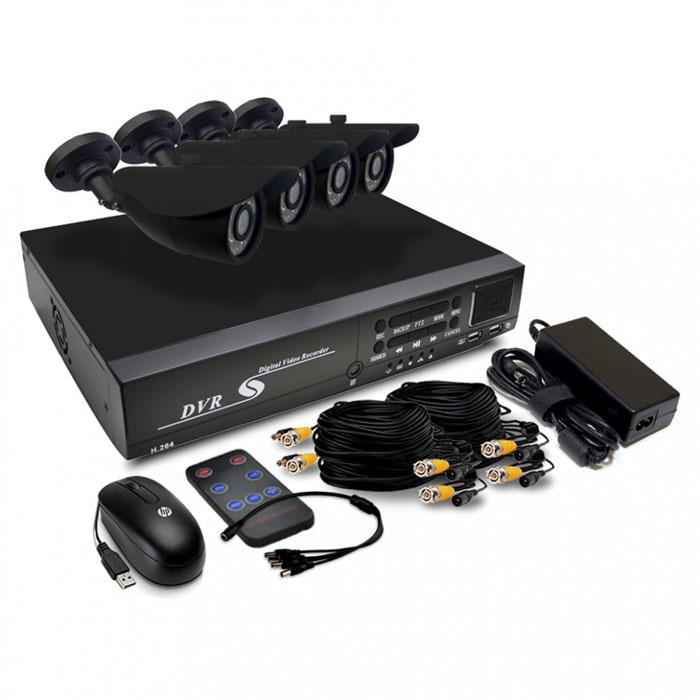 Sapsan Дача комплект видеонаблюдения7188Sapsan Дача - представляет собой оптимальный вариант для охраны дома и дачи. В комплекте есть четыре камеры видеонаблюдения онлайн уличного типа, позволяет обеспечивать качественный и надежный контроль за всем происходящем на вашей территории. Устройство поддерживает подключение через интернет, форматы P2P, 3G при подключении через порт USB. Просмотреть видеоизображение с камер возможно при помощи мобильных устройств, работающих на базе ОС Android, iOS, Symbian, Blackberry. Также присутствует возможность работы через персональные компьютеры на любой операционной системе, используя WEB-интерфейс. Видеорегистратор может работать с проводными датчиками. Максимальное количество подключаемых устройств - 4. Если происходит срабатывание одного из датчиков, то автоматически возможна запись происходящего на жесткий диск или же отправка изображения на вашу электронную почту. В случае постоянно подключенного соединения с Интернетом и правильно настроенным...
