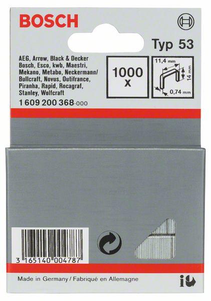 Скрепки для степлера Bosch 1000 14мм тип 53 1609200368