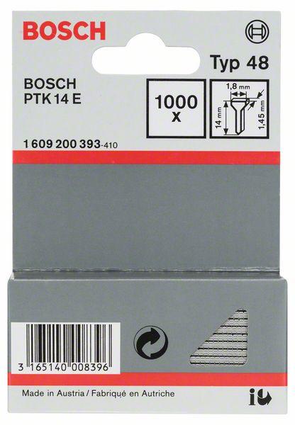 Гвозди для степлера Bosch 1000 14мм тип 48 1609200393