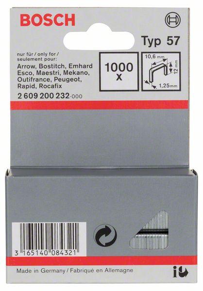 Скрепки для степлера Bosch 1000 12/10.6мм тип 57 2609200232
