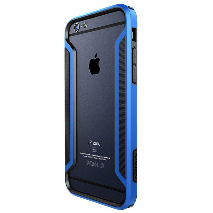 Nillkin Armor-Border Series чехол для iPhone 6, Blue2000000019826Бампер Nillkin Armor-Border Series для iPhone 6 выполнен из высококачественного поликарбоната. Он защищает боковые стороны смартфона при падении и надежно фиксирует телефон. Чехол также обеспечивает свободный доступ ко всем разъемам и элементам управления.