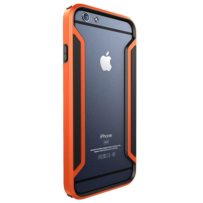 Nillkin Armor-Border Series чехол для iPhone 6, Orange2000000019819Бампер Nillkin Armor-Border Series для iPhone 6 выполнен из высококачественного поликарбоната. Он защищает боковые стороны смартфона при падении и надежно фиксирует телефон. Чехол также обеспечивает свободный доступ ко всем разъемам и элементам управления.