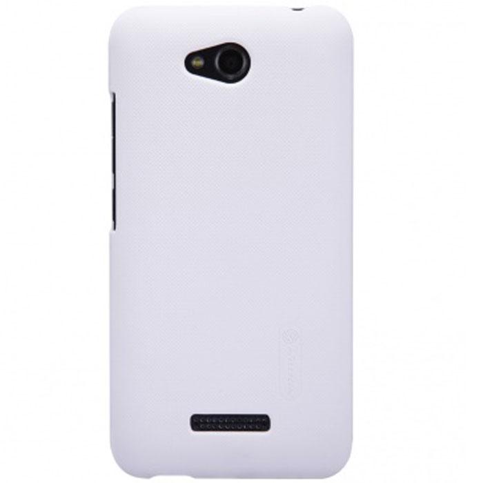 Nillkin Super Frosted Shield чехол для HTC Desire 616, White2000000021270Накладка Nillkin Super Frosted Shield для HTC Desire 616/D616W выполнена из высококачественного поликарбоната. Она защищает боковые стороны и заднюю крышку смартфона и надежно фиксирует телефон. Накладка также обеспечивает свободный доступ ко всем разъемам и клавишам устройства.