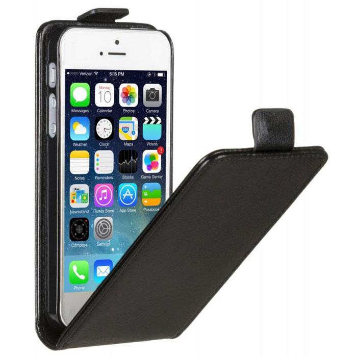 Skinbox Flip Case чехол для iPhone 5, Black2000000033266Чехол Skinbox Flip Case для iPhone 5 выполнен из высококачественного поликарбоната и экокожи. Он обеспечивает надежную защиту корпуса и экрана смартфона и надолго сохраняет его привлекательный внешний вид. Чехол также обеспечивает свободный доступ ко всем разъемам и клавишам устройства.