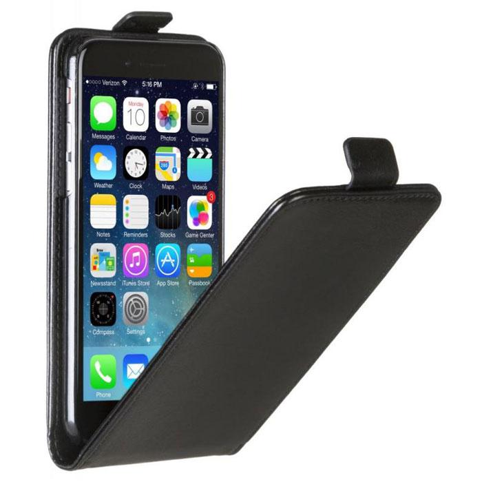 Skinbox Flip Case чехол для iPhone 6, Black2000000033242Чехол Skinbox Flip Case для iPhone 6 выполнен из высококачественного поликарбоната и экокожи. Он обеспечивает надежную защиту корпуса и экрана смартфона и надолго сохраняет его привлекательный внешний вид. Чехол также обеспечивает свободный доступ ко всем разъемам и клавишам устройства.