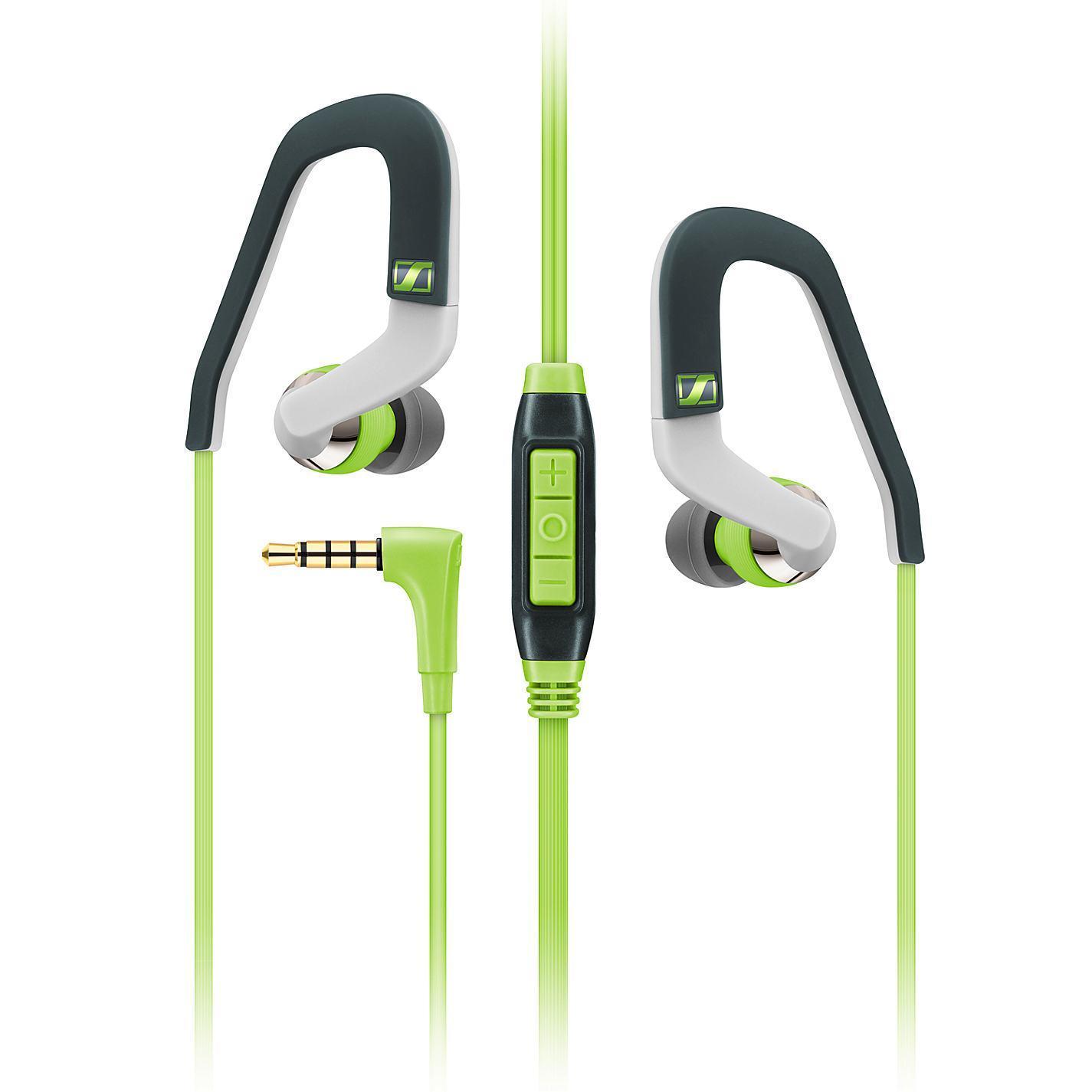 Sennheiser OCX 686G Sports, Green наушники506226Высокопроизводительные драйверы мобильных наушников Sennheiser OCX 686G SPORTS обеспечивают великолепное качество звука, а внутриканальная конструкция - защиту от окружающего шума. Легкий вес, эргономичный дизайн и гибкие заушины способствуют надежной посадке, что позволит Вам повысить интенсивность тренировки.