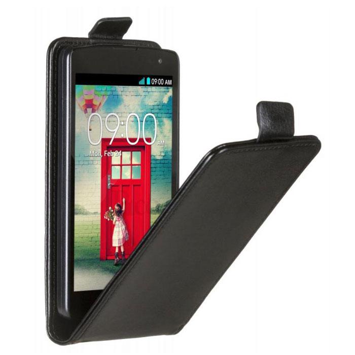 Skinbox Flip Case чехол для LG Fino, Black2000000033235Чехол Skinbox Flip Case для LG Fino выполнен из высококачественного поликарбоната и экокожи. Он обеспечивает надежную защиту корпуса и экрана смартфона и надолго сохраняет его привлекательный внешний вид. Чехол также обеспечивает свободный доступ ко всем разъемам и клавишам устройства.