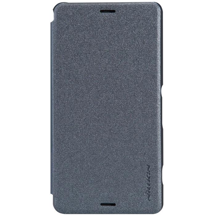 Nillkin Sparkle Leather Case чехол для Sony Xperia Z3 Compact, Black2000000021201Чехол Nillkin Sparkle Leather Case выполнен из высококачественного поликарбоната и экокожи. Он надежно фиксирует и защищает смартфон при падении. Обеспечивает свободный доступ ко всем разъемам и элементам управления.