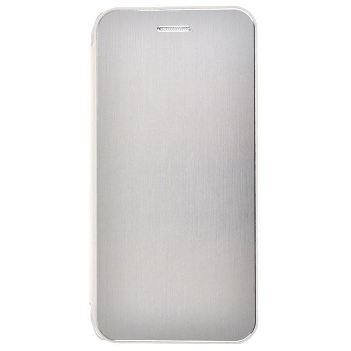 Skinbox Lux Aluminium чехол для iPhone 6, Silver2000000032993Чехол Skinbox Lux Aluminium выполнен из высококачественного поликарбоната и экокожи. Он обеспечивает надежную защиту корпуса и экрана смартфона и надолго сохраняет его привлекательный внешний вид. Чехол также обеспечивает свободный доступ ко всем разъемам и клавишам устройства.