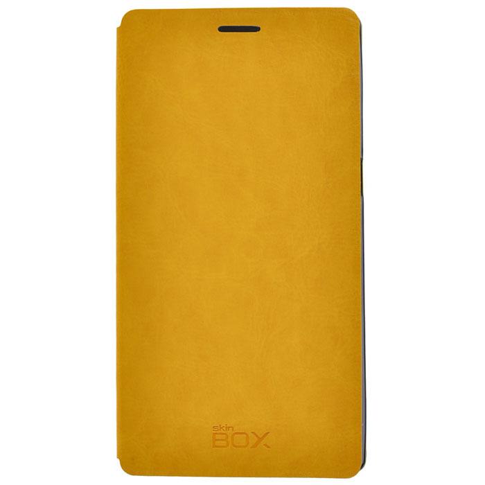 Skinbox Lux чехол для Lenovo K920, Yellow2000000033624Чехол Skinbox Lux выполнен из высококачественного поликарбоната и экокожи. Он обеспечивает надежную защиту корпуса и экрана смартфона и надолго сохраняет его привлекательный внешний вид. Чехол также обеспечивает свободный доступ ко всем разъемам и клавишам устройства.