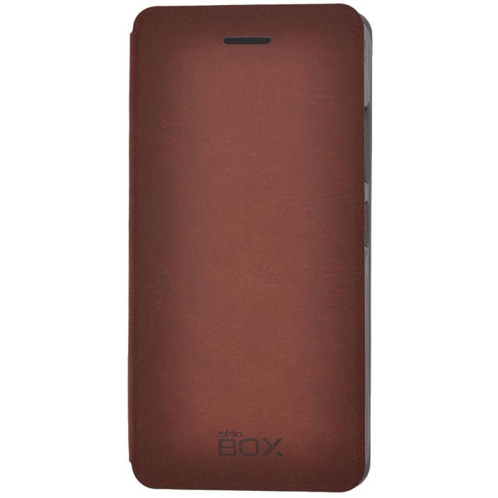 Skinbox Lux чехол для Lenovo S90, Brown2000000032931Чехол Skinbox Lux выполнен из высококачественного поликарбоната и экокожи. Он обеспечивает надежную защиту корпуса и экрана смартфона и надолго сохраняет его привлекательный внешний вид. Чехол также обеспечивает свободный доступ ко всем разъемам и клавишам устройства.