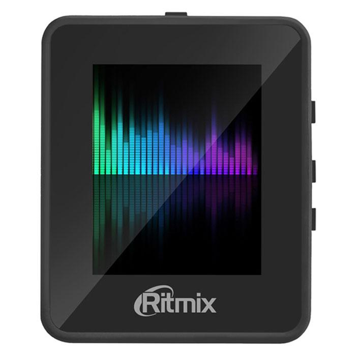 Ritmix RF-4150 4Gb, Black MP3-плеер15117449Ritmix RF-4150 - это компактный MP3-плеер с сенсорным экраном. Проигрыватель прост и удобен в использовании, однако обладает всеми необходимыми функциями. Модель не только воспроизводит аудио, но и поддерживает такие форматы, как AMV, JPEG, BMP и TXT. Также плеер имеет встроенный FM-приемник и диктофон.