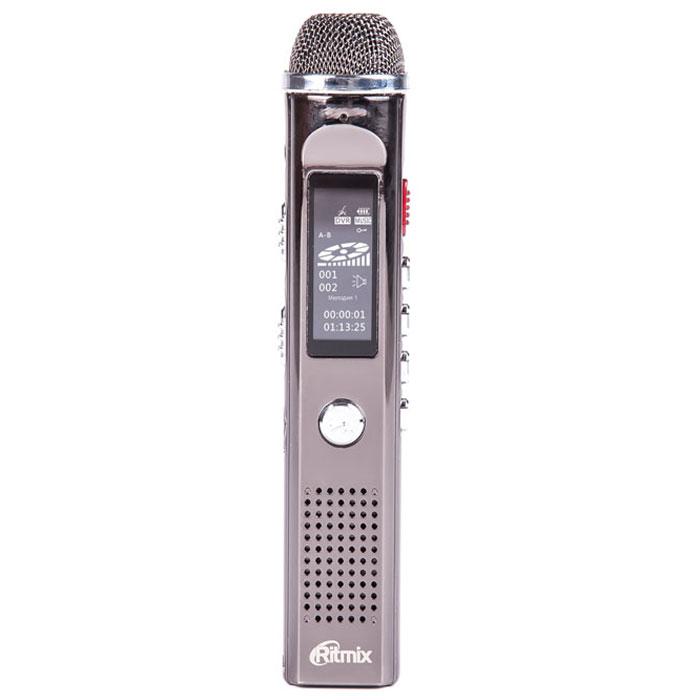 Ritmix RR-150 8Gb диктофон15117961Ritmix RR-150 - это компактный цифровой диктофон в стильном корпусе. Рекордер обладает функцией музыкального плеера и имеет встроенный FM-приемник, что позволяет слушать и записывать радиопередачи. Модель не только отличается улучшенным качеством записи благодаря большому встроенному высокочувствительному микрофону, но и поддерживает разные типы записи: PCM - высококачественная запись (битрейт 1536 кбит/сек), NR - подавление нежелательных шумов (битрейт 384 кбит/сек), HQ - стандартная запись (битрейт 128 кбит/сек). Также осуществляется прямое кодирование записей в MP3.
