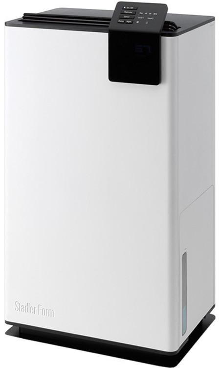 Stadler Form Albert Little A-050E осушитель воздухаA-050EОригинальный климатический прибор Albert в элегантном бело-черном корпусе, гармонично вписывающийся в современный интерьер и подстраивающийся под требования современной жизни, очень эффективно осушает воздух в помещении. Его возможности сложно переоценить для помещений с постоянной повышенной влажностью: бассейнов, спа-центров, подвалов, кладовых, винных хранилищ. И конечно, он подойдет для жилых помещений с влажным климатом. Если в доме сыро, и вы не знаете, как избавиться от грибка, то эту проблему поможет решить осушитель Albert. Основное предназначение Albert – поддерживать влажность в помещении на заданном уровне. Этот уровень легко отслеживается: вы его можете установить своему желанию, слегка повернув регулятор на верхней панели прибора. Избыточная влажность воздуха способствует размножению вредных бактерий, появлению плесени и неприятных запахов. Но попадая в устройство осушителя, воздух избавляется от излишней влажности, что препятствует распространению всех...
