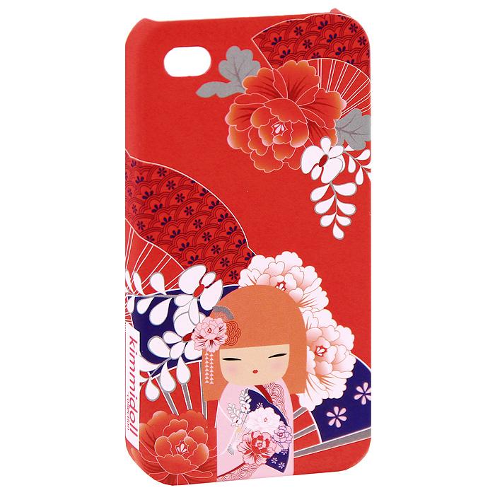 Чехол для iPhone 4/4s Kimmidoll Тамаки (Драгоценность), цвет: красный. KF0499KF0499Съемный чехол для верного гаджета iPhone 4/4s, украшен изображением очаровательной куколки Тамаки (Драгоценность). Чехол легко снимается и легко одевается, а главное, радует глаз! Чехол легко защитит любимый телефон от пыли, грязи и царапин, а в случае падения предотвратит трещины и сколы. В чехле есть специальные прорези (для окошка камеры, разъема для наушников и зарядного шнура, для клавиш регулировки звука и кнопочки беззвучного режима). Такой чехол станет прекрасным подарком для любительницы оригинальных и практичных вещиц.