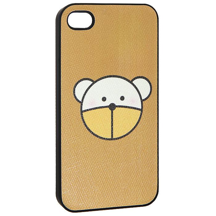 Кавер на iPhone 4 i Миша, цвет: коричневый. 07007770700777Кавер на iPhone 4 i Миша изготовлен из пластика с рельефной поверхностью. Изделие оформлено изображением мишки. Оригинальный кавер стильно украсит ваш телефон и добавит вашему гаджету яркости и индивидуальности.