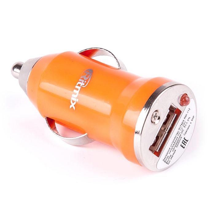 Ritmix RM-112, Orange автомобильное ЗУ15117516Ritmix RM-112 – компактная автомобильное зарядное устройство, имеющее USB-порт. Предназначено для зарядки и подзарядки гаджетов через USB от прикуривателя автомобиля.