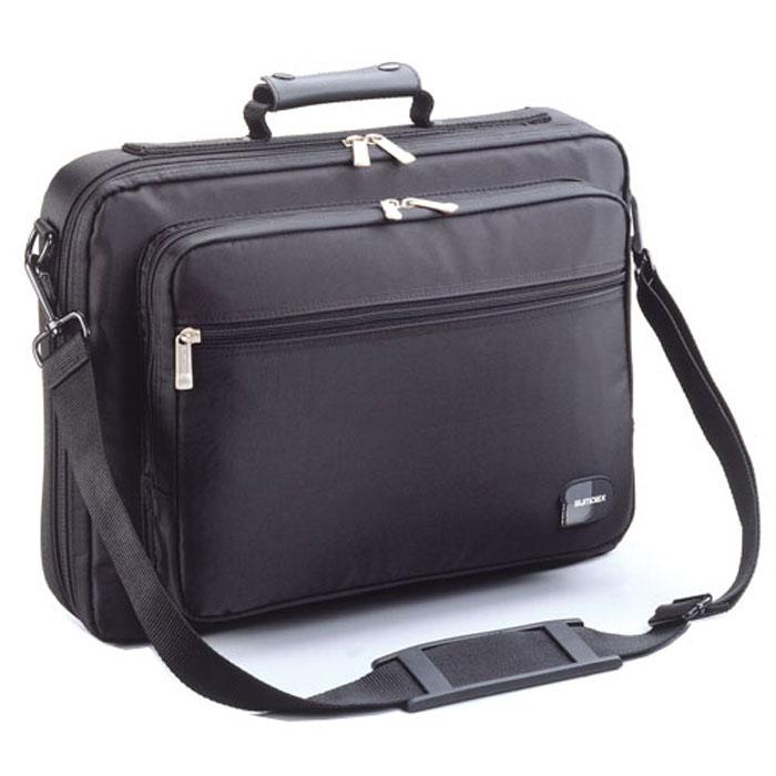 Sumdex NON-084, Black сумка для ноутбука 15,6NON-084BKСумка Sumdex NON-084 подходит для большинства ноутбуков с диагональю экрана 15.6-16. Имеется рабочее отделение для дискет, ручек, CD-дисков, и пластиковых карт. Накладной задний карман с фиксацией на липучке. Сумка изготовлена из водоотталкивающего нейлона Оксфорд с металлической фурнитурой и самовосстанавливающимися молниями. Защищенное переднее отделение обеспечивает легкий доступ к цифровым устройствам.