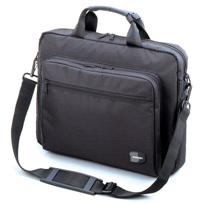 Sumdex NRN-088, Black сумка для ноутбука 15,6NRN-088BKСумка Sumdex NRN-088 предназначена для ноутбука диагональю до 15,6. Имеет рабочее отделение для ручек, CD-дисков, и пластиковых карт. Накладной задний карман с фиксацией на липучке. Внешний фронтальный карман для цифровых устройств и аксессуаров.