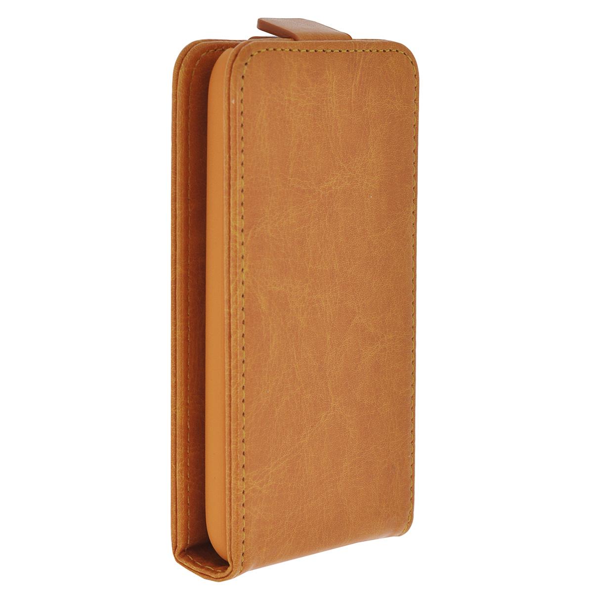 Skinbox Flip Case чехол для Nokia Lumia 530, Orange2000000033372Чехол Skinbox Flip Case чехол для Nokia Lumia 530 выполнен из высококачественного поликарбоната и экокожи. Он обеспечивает надежную защиту корпуса и экрана смартфона и надолго сохраняет его привлекательный внешний вид. Чехол также обеспечивает свободный доступ ко всем разъемам и клавишам устройства.