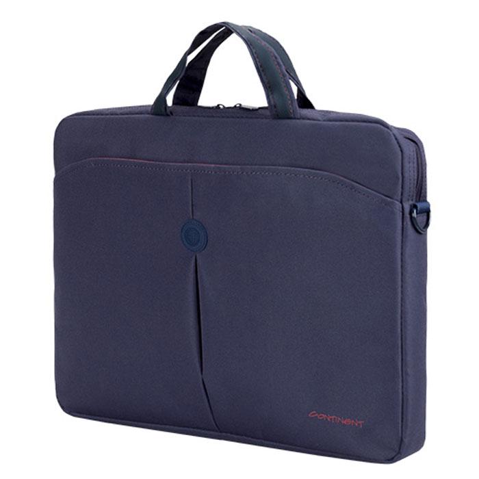 Continent CC-01, Blue сумка для ноутбука 15,6CC-01 BlueContinent CC01 - стильная простая и функциональная сумка для ноутбука.