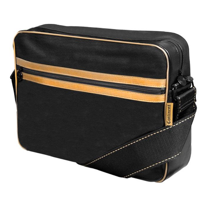 Continent CC-065, Black Gold сумка для ноутбука 15,6CC-065 Black/GoldСумка из искусственной кожи Continent CC-065 выполнена в спортивном стиле. Помимо ноутбука с диагональю экрана 15 дюймов, в ней может поместиться множество необходимых вещей. Например, в дополнительное внешнее отделение можно положить журналы или документы, а в карман-органайзер – канцелярские принадлежности, карты памяти и аксессуары для ноутбука. Сумка оснащена плечевым ремнем, поэтому ее удобно носить не только в руке, но и на плече.