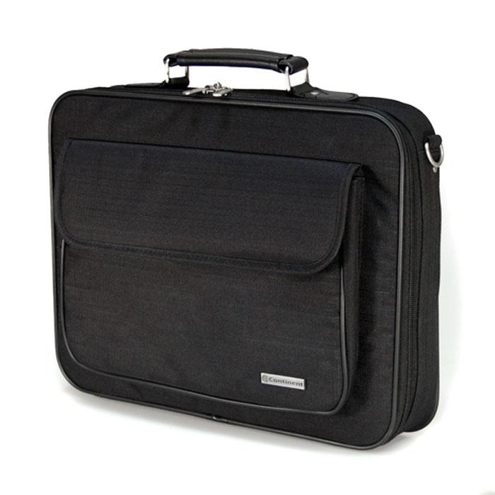 Continent CC-03, Black сумка для ноутбука 15,6CC-03 BlackContinent CC-03 - строгая и удобная сумка для переноски и защиты ноутбука. Благодаря своим полноформатным размерам сумка просто незаменима для деловых людей - столько в ней отделений для бумаг и документов. А благодаря своей стильной элегантной форме и цветовым решениям - будет интересна молодым и энергичным людям. Если Вы возите ноутбук с собой на работу, в путешествия, или просто часто берете его с собой, то на своем опыте убедились, что сумка для ноутбука просто необходима.
