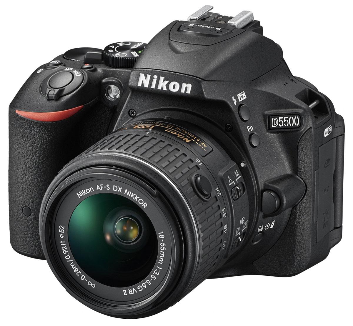 Nikon D5500 Kit 18-55 VR II, Black цифровая зеркальная фотокамераVBA440K001Отобразите красоту окружающего мира на великолепных фотографиях, снятых с помощью фотокамеры D5500. Эта легкая и компактная, но в то же время очень мощная цифровая зеркальная фотокамера с удобным и понятным сенсорным управлением позволяет совершенствоваться в искусстве фотографии. Забудьте о смазанных фотографиях и создавайте яркие детализированные изображения, которые всегда будут в центре внимания. Достигайте непревзойденных результатов даже при съемке быстро движущихся объектов или в условиях недостаточной освещенности. Создавайте фотографии и видеоролики отличного качества даже при недостаточном освещении. Благодаря широкому диапазону чувствительности ISO (100-25 600 единиц) изображения получаются как никогда яркими и детализированными. С мощной 24,2-мегапиксельной матрицей вы поразите друзей снимками с высоким уровнем детализации. Фотокамера D5500 оснащена матрицей с разрешением 24,2-мегапикселя, в конструкции которой не используется оптический...