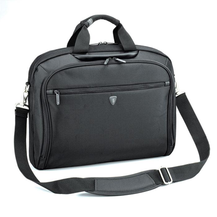Sumdex PON-352, Black сумка для ноутбука 15,6PON-352BKСумка Sumdex PON-352 подходит для большинства ноутбуков диагональю до 15.6. Имеет отделение-органайзер с карманами для мобильного телефона, визиток, ручек, дисков. Также имеется задний карман для документов, который закрывается на молнию.