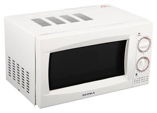 Supra MW-G2101MW СВЧ-печьMW-G2101MWСтрогий классический дизайн микроволновой печи с грилем Supra MWG-2101MW позволит ей органично влиться в общий дизайн вашей кухни Отдельно стоящая микроволновая печь; объем 21 л; мощность 800 Вт; гриль; механическое управление; поворотные переключатели