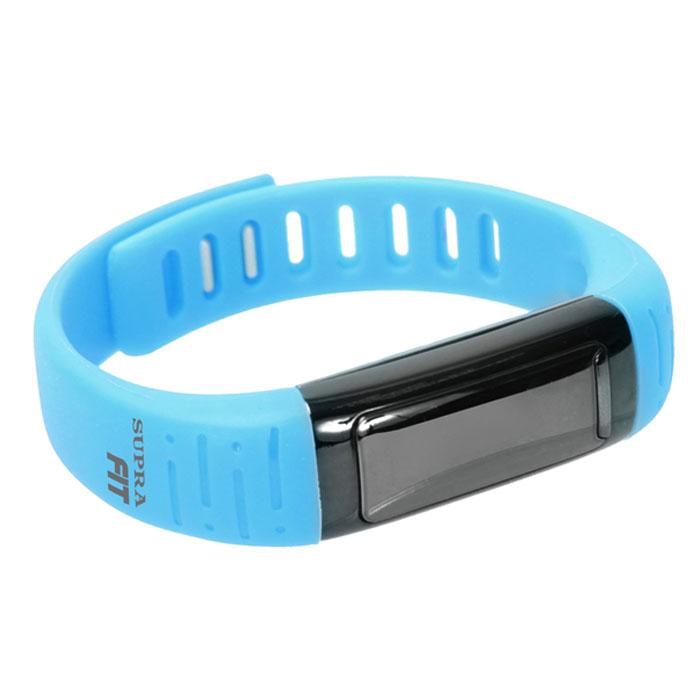 Supra PS-101, Light Blue фитнес-браслетPS-101 light blueSupra PS-101 - шагомер, совместимый с устройствами на платформе Android. Считает шаги, расстояние и сожженные калории Работает как часы, будильник, секундомер Оснащен функцией мониторинга сна Функция анти-вор - при удалении смартфона/планшета от фитнес- часов срабатывает сигнал Отображает на дисплее звонки Удаленное управление камерой 3 дня автономной работы на одном заряде батареи Совместимость с устройствами Android, Bluetooth 4.0 USB зарядка OLED дисплей