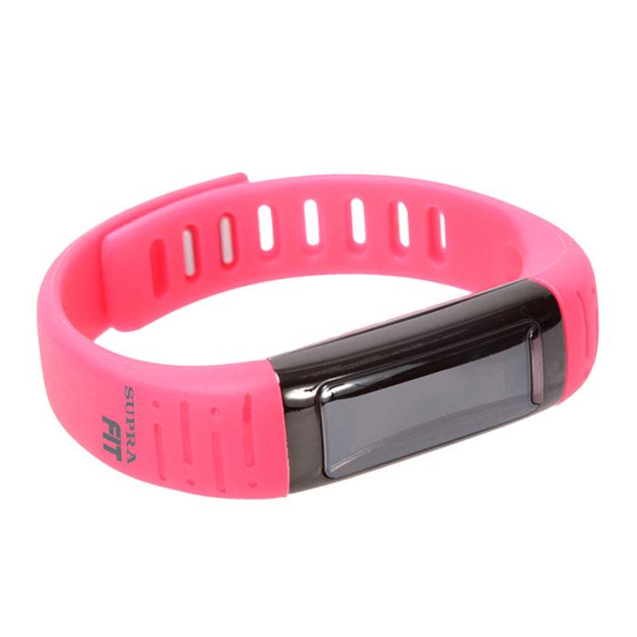 Supra PS-101, Pink фитнес-браслетPS-101 pinkSupra PS-101 - шагомер, совместимый с устройствами на платформе Android. Считает шаги, расстояние и сожженные калории Работает как часы, будильник, секундомер Оснащен функцией мониторинга сна Функция анти-вор - при удалении смартфона/планшета от фитнес- часов срабатывает сигнал Отображает на дисплее звонки Удаленное управление камерой 3 дня автономной работы на одном заряде батареи Совместимость с устройствами Android, Bluetooth 4.0 USB зарядка OLED дисплей