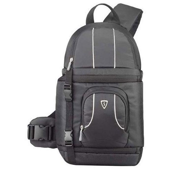 Sumdex POC-484, Black сумка для фотокамерыPOC-484BKРюкзак для фотокамеры Sumdex POC-484 изготовлена из водоотталкивающего нейлона. Ультратонкая подкладка со сменными перегородками. Регулируемый эргономичный плечевой ремень