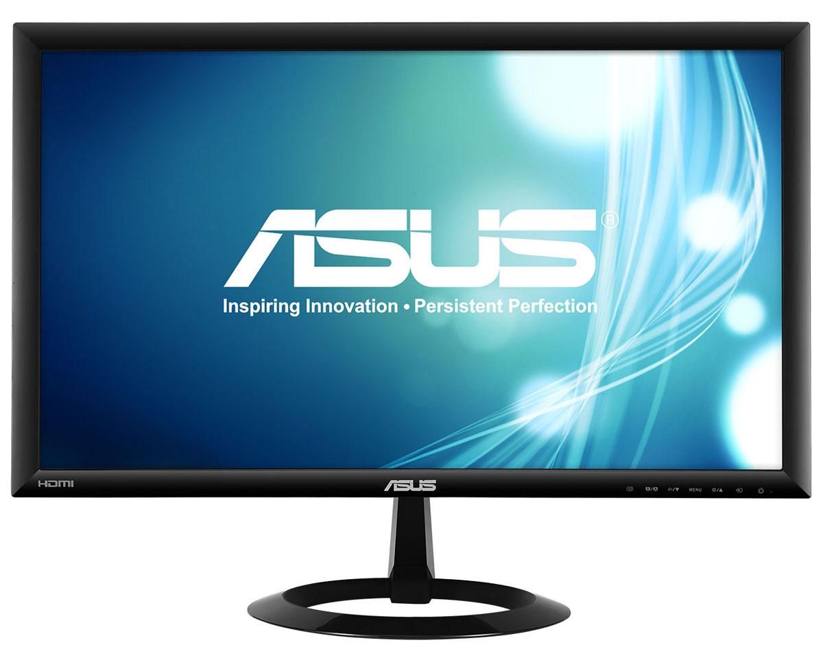 ASUS VX228H, Black монитор90LM00L0-B01670Asus VX228H - современный ЖК-монитор со светодиодной подсветкой, малым временем отклика, высокой контрастностью и интерфейсом HDMI. Помимо великолепного качества изображения он может похвастать прекрасным дизайном корпуса и обладает изящной, надежной подставкой. Благодаря технологии ASCR, которая динамически изменяет яркость подсветки в зависимости от текущего изображения, контрастность данного монитора достигает фантастического уровня – 80 000 000:1! Он обладает разрешением 1920x1080 пикселей и, таким образом, поддерживает формат видео Full-HD 1080p. Малое среднее время отклика – всего 1 мс (при переключении между полутонами) – обеспечивает отсутствие темных «шлейфов» позади движущихся объектов и плавное воспроизведение видео. Функция контроля соотношения сторон позволяет пользователям указать предпочтительный способ отображения видеоматериала при масштабировании: растягивать картинку на весь экран или сохранять соотношение сторон 4:3....