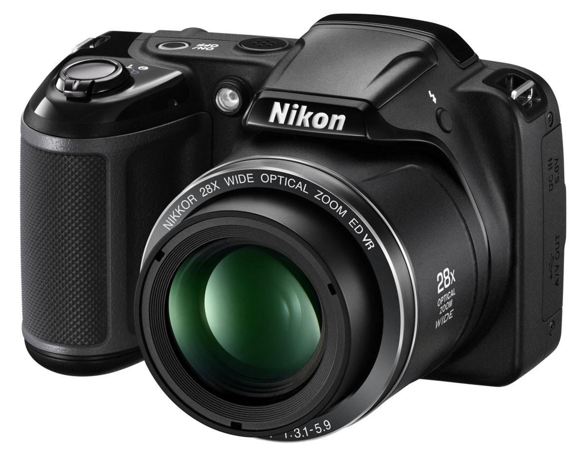 Nikon Coolpix L340, Black цифровая фотокамера VNA780E1