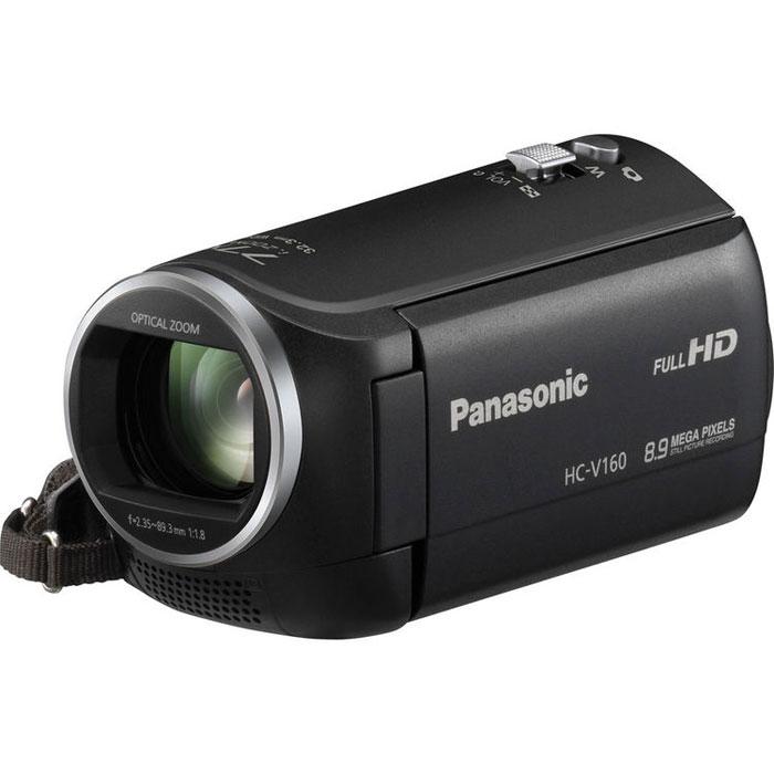 Panasonic HC-V160, Black цифровая видеокамераHC-V160EE-KСнимайте динамичные ближние планы удаленных объектов с помощью камеры Panasonic HC-V160 с интеллектуальным 77-кратным зумом, а стабилизатор изображения уменьшит размытие и обеспечит четкое изображение. Используйте режим широкоугольной съемки 32.3 мм для создания групповых и пейзажных снимков отличного качества. Интеллектуальный 77-кратный зум: Камера HC-V160 обеспечивает возможность видео-и фотосъемки с применением интеллектуального 77- кратного зума и при этом имеет компактный корпус. Этот мощный зум приближает удаленные объекты настолько, чтобы можно было создавать динамические изображения, заполняющие весь кадр. Стабилизатор изображения: Стабилизатор изображения исправляет последствия легкого дрожания рук. Даже снимки, сделанные с использованием мощного зума, в которых так заметно дрожание рук, теперь выходят очень четко и ровно. Широкоугольный объектив, 32,3 мм: Благодаря широкоугольному объективу 32,3 мм теперь в кадр...
