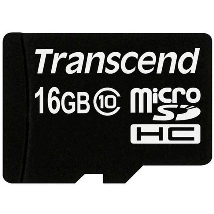 Transcend microSDHC Class 10 16GB карта памяти (TS16GUSDC10)