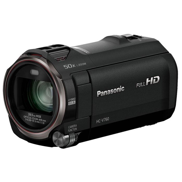Panasonic HC-V760, Black цифровая видеокамераHC-V760EE-KСохраняйте семейные воспоминания в отличном качестве с использованием простого зума. Используйте первую в мире технологию «Фильм HDR» (расширенный динамический диапазон) для получения четких деталей даже в сложных условиях сьемки. Оцените неизменно ровные, не размытые изображения. Превосходное качество изображения с улучшенным объективом, сенсором и процессором: Система линз объектива управляет каждой из четырех групп линз отдельно, благодаря чему уменьшаются диапазоны привода обеспечивается высококачественное изображение, мощное увеличение, а также компактность корпуса камеры. Вместе с этим используются сенсор BSI на 6.03 мегапикселя, а также высокоскоростной процессор Crystal Engine, которые позволяют получать четкое, насыщенное изображение. Фильмы HDR (широкий динамический диапазон) -V: Четкие снимки с превосходной детализацией как в освещенных, так и в темных областях Объединяя два изображения, сделанные с разным временем экспозиции,...