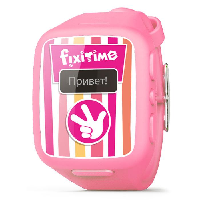 Fixitime FT-101, Pink часы-телефонFT101Fixitime FT-101 - новый гаджет на радость детям и в помощь родителям. Понравится всем, кто заботится о безопасности своих детей и хочет быть ними на связи.Это отличный подарок для детей 4-12 лет - мобильный телефон в виде наручных часов, оформленный в стиле легендарного мультсериала Фиксики, со встроенным GPS/LBS трекером. Ребенок может нажатием кнопки позвонить на любой из двух номеров, устанавливаемых дистанционно из приложения. Ему также можно позвонить на часы-телефон с разрешенных номеров, устанавливаемых в приложении. Нажатие кнопки SOS уведомляет всех членов семьи, передает 15-секундную запись и переводит часы в режим автоматического ответа на входящий звонок. Вам доступно отображение точного местоположения ребенка на карте по GPS (вне зданий), приблизительного местоположения по LBS (внутри зданий), а также истории перемещений за период (с помощью приложения для iOS 7 и Android). В приложении можно отслеживать до 20 различных часов под...