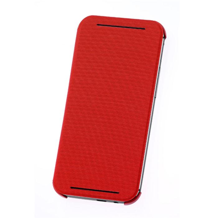 HTC HC V980 чехол для One E8, Red99H11621-00Жесткий чехол HTC HC V980 для смартфона One E8 Dual Sim. Чехол изготовлен из пластика с отгибающейся крышкой, с магнитом для автовключения экрана.