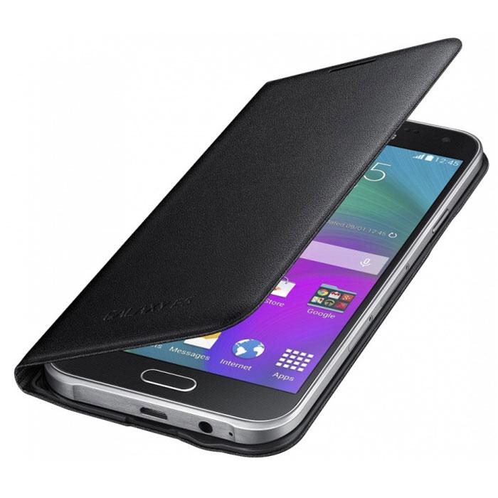 Samsung EF-WE500B Flip Wallet чехол для Galaxy E5, BlackEF-WE500BBEGRUSamsung EF-WE500B Flip Wallet - стильный и удобный чехол для смартфона Samsung Galaxy E5. Чехол имеет практичный дизайн. Кнопки и разъёмы устройства всегда будут доступны, благодаря прорезанным отверстиям.