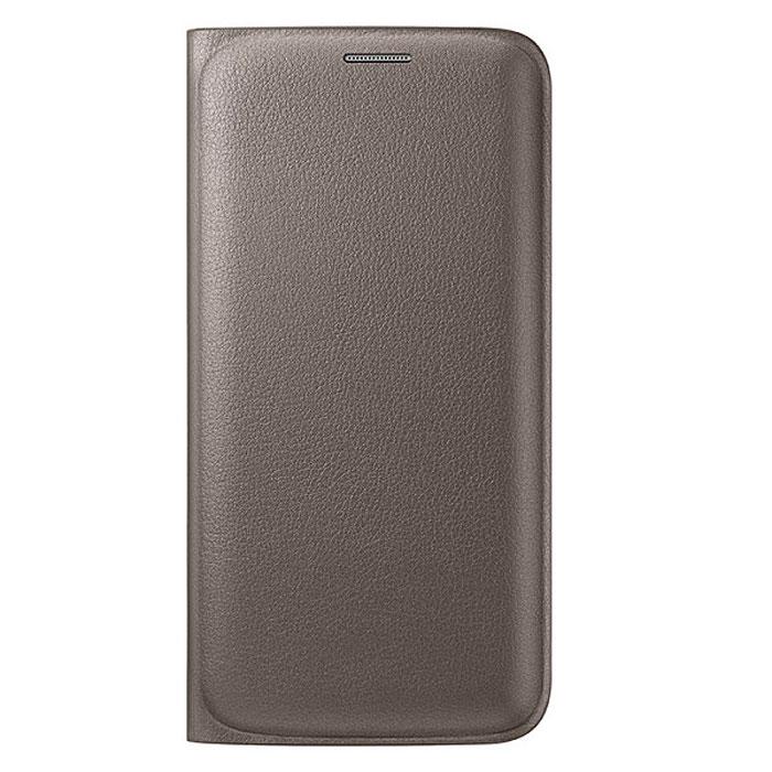 Samsung EF-WG925P Flip Wallet чехол для Galaxy S6 Edge, GoldEF-WG925PFEGRUЧехол-книжка Samsung EF-WG925P Flip Wallet для Galaxy S6 Edge отлично подойдёт для вашего устройства, так как он сочетает в себе удобство и функциональность, а также сможет защитить ваш смартфон от внешних повреждений. Имеет свободный доступ ко всем разъемам устройства.