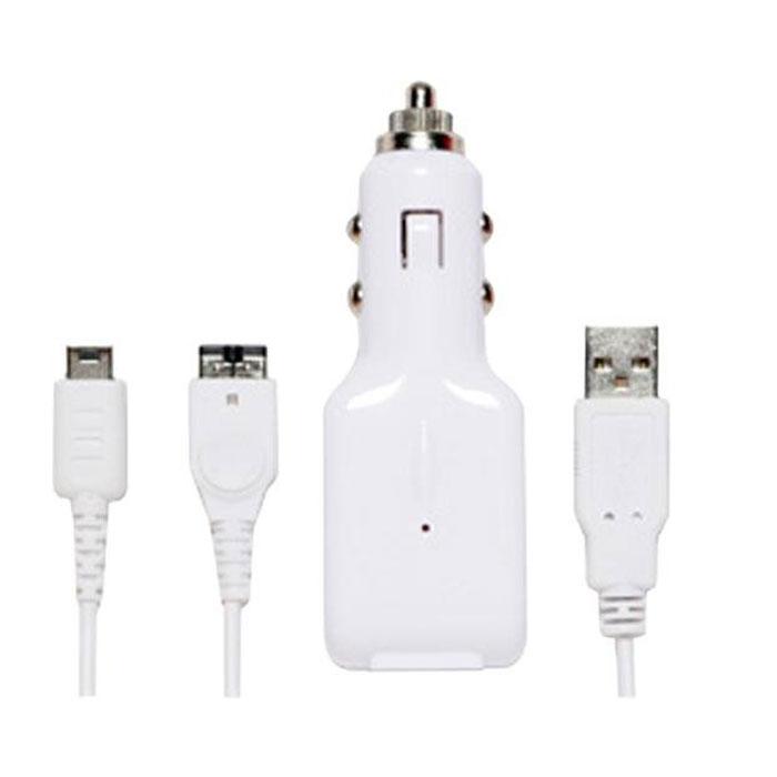 In-Car USB ChargeCable, зарядный кабель для Nintendo DS LightR0003907Комплект для зарядки игровой приставки Nintendo DS Lite от автомобильного прикуривателя или разъема USB компьютера. В комплект идет кабель с выходными коннекторами для Nintendo DS Light.