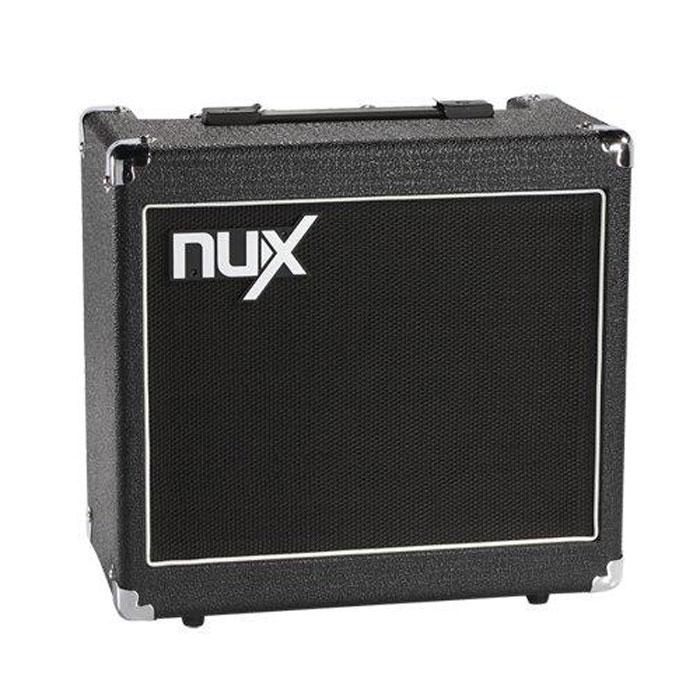 Nux Mighty50X гитарный комбоусилительMighty50XNux Mighty50X - цифровой гитарный усилитель, который имеет 32 битный DSP процессор, 44.1KHz/24bit AD/DA преобразователи и TS/AC технологию, а также встроенный тюнер, MP3/CD и PEDAL jack входы, Headphones/MIXER выход. Усилитель содержит в себе достаточное количество встроенных эффектов, 6 типов усилителей. Вы можете сохранить до 4 пресетов. 12-дюймовый динамик и усилитель мощностью 50 Вт создают очень плотный звук, который можно использовать, как дома, во время занятий, так и на сцене. 3-полосный эквалайзер (BASS, MID и TREBLE), 6 типов усилителей (CLEAN, BLUES, CRUNCH, SOLO, METAL, BRITISH), 6 типов эффектов (Chorus, Flanger, Phaser, Tremolo, Delay и Reverb), Возможность сохранять до 4 пресетов, Встроенный тюнер Инструментальные входы: 2 (HIGH IN / LOW IN, для использования с разными типами датчиков: активными и пассивными) Обработка сигнала: 32 bit