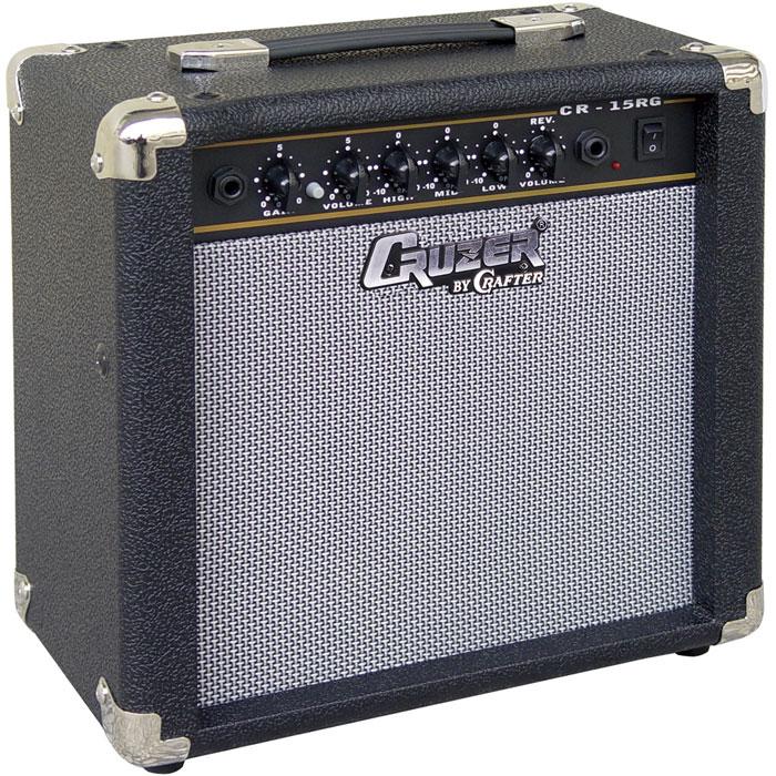 Cruzer CR-15RG гитарный комбоусилительCR-15RGГитарный комбоусилитель Cruzer CR-15RG оснащен динамиком 6,5 и обладает мощностью 15 Вт. Данная модель отличается наличием эффекта реверберации, что поможет найти подходящее звучание для вашей гитары. Устройство подойдет для домашних репетиций и первых опытов живых выступлений перед небольшой аудиторией. Управление состоит из контроллеров высоких, средних и низких частот, громкости и усиления сигнала. Выход на наушники и линейный вход удобно расположены на передней панели вместе с остальными элементами управления. Динамик 1 x 6,5 2 канала: чистый и перегруз 3-х полосный эквалайзер Ревербератор
