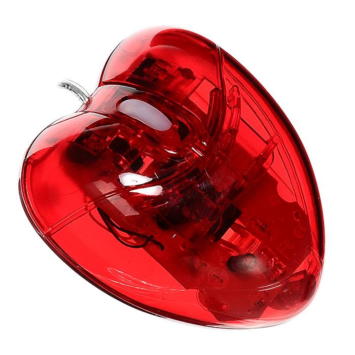 Оптическая компьютерная мышь Сердце92866Оптическая компьютерная мышь, выполненная в виде красного сердца, станет незаменимым аксессуаром во время работы за компьютером. Мышь выполнена в эргономичном дизайне, оснащена двумя кнопками и колесом прокрутки, во время работы корпус подсвечивается. Соединяется с компьютером при помощи USB-кабеля.