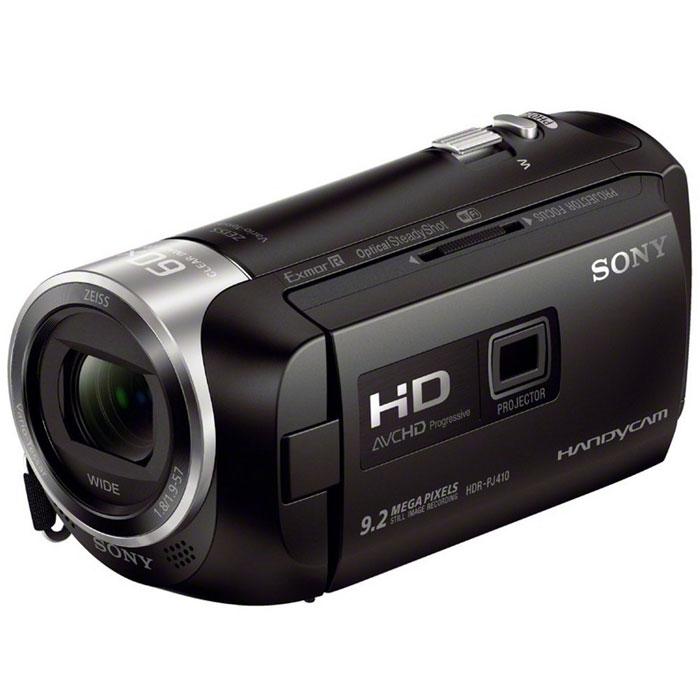 Sony HDR-PJ410B видеокамераHDRPJ410B.CELВидеокамера Sony HDR-PJ410B с возможностью записи в форматах HD и XAVC S, оптическим стабилизатором изображения SteadyShot, функциями Highlight Movie Maker и прямой трансляции видеопотока для простоты передачи. Оптический стабилизатор Optical SteadyShot с интеллектуальным активным режимом: Усовершенствованная стабилизация изображения обеспечивает четкость записи даже при отсутствии устойчивости камеры при съемке. Широкоугольный объектив до 26,8 мм: Если вы снимаете видео или занимаетесь фотосъемкой, лучший в своем классе широкоугольный объектив дает больше возможностей при съемке пейзажей и сцен внутри помещения, когда у вас недостаточно места, чтобы отступить назад. Даже без широкоугольной насадки на объектив некоторые видеокамеры снимают на фокусном расстоянии 26,8 мм (при соотношении сторон изображения 16:9) в режиме видео. Исключительное качество изображения: Формат XAVC S с высокой скоростью потока данных...